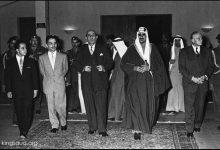 صورة شكري القوتلي مع الملك سعود في بيروت 1956