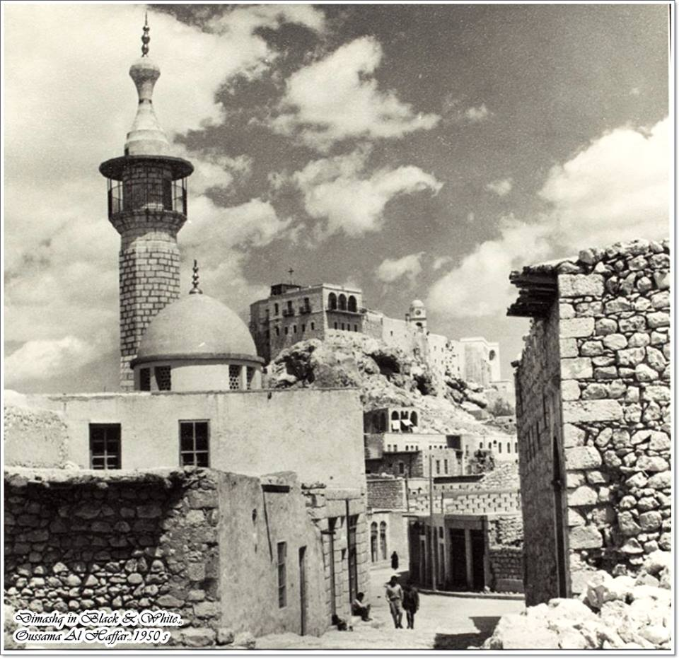 مسجد ودير سيدة صيدنايا..بالخمسينيات