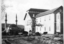 صورة دمشق 1907 – التكية السليمانية ومبنى المشفى الوطني (مشفى الغرباء )..