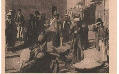 دير الزور - الجامع العمري ومن خلفه جامع السرايا