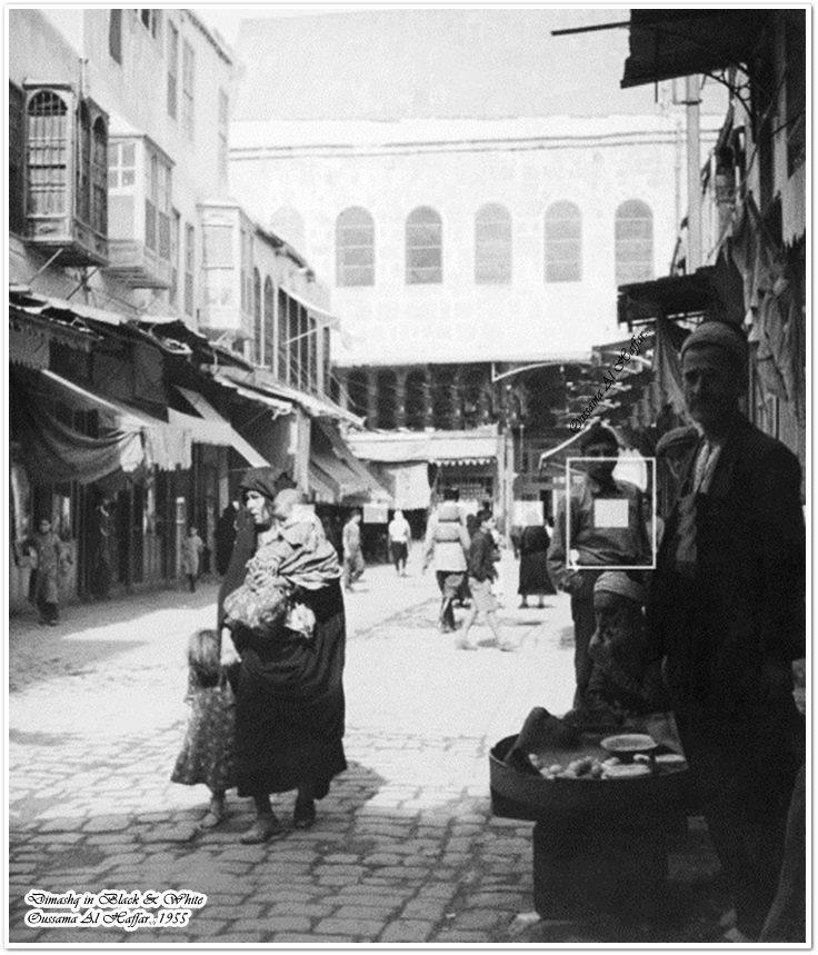 دمشق - سوق الصاغة القديمة وباب الجامع الأموي (باب الزيادة )..1955