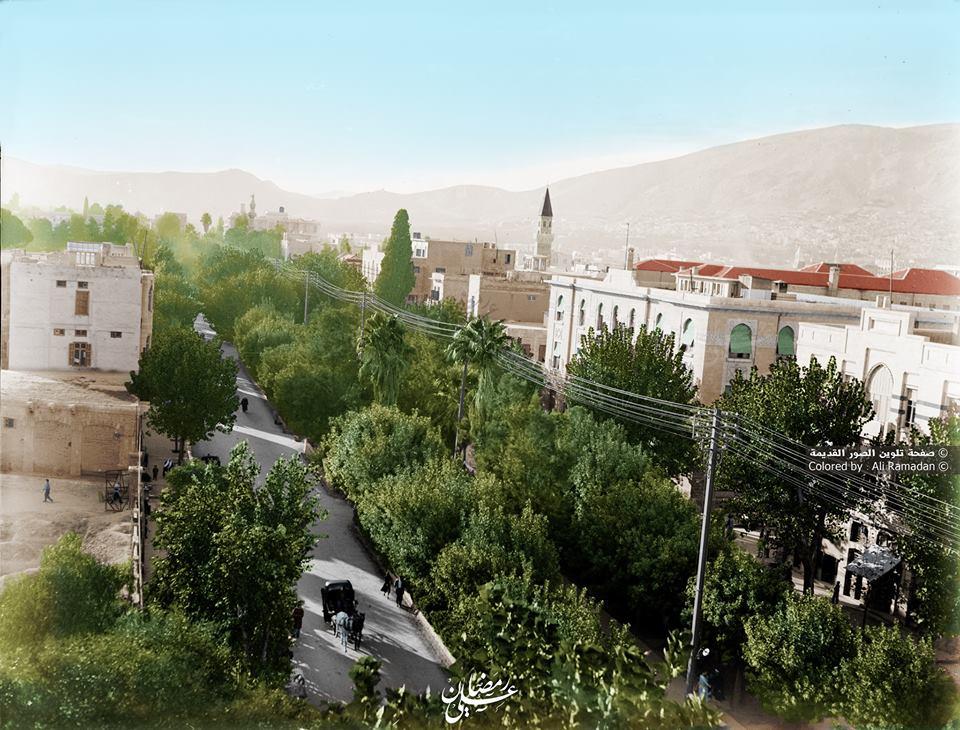 دمشق - شارع النصر في الثلاثينيات