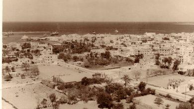 صورة اللاذقية: مشروع الصليبة وجامع غريب قبيل الخمسينات