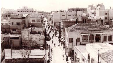 اللاذقية - صورةٌ قديمةٌ لنهاية شارع هنانو..