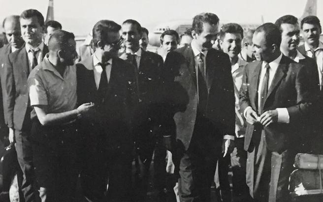 أعضاء من قيادة حزب البعث في مطار المزة- تموز 1966