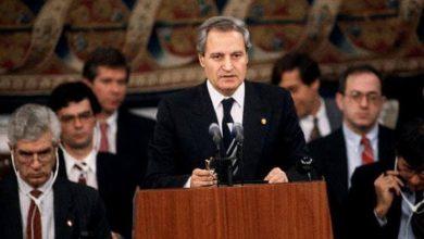 صورة كلمة فاروق الشرع في اليوم الثاني لمؤتمر مدريد للسلام 1991