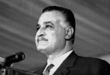 صورة خطاب جمال عبد الناصر في مدرسة الضباط في حلب 1958