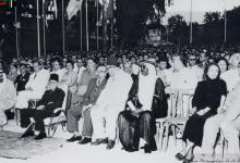 صورة افتتاح أول معرض دولي في دمشق عام 1954