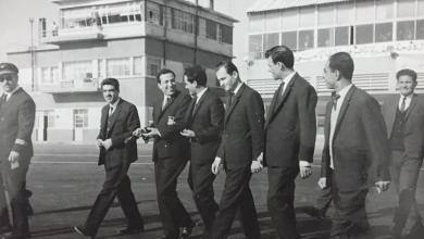 أعضاء من قيادة حزب البعث في مطار المزة 1965