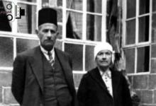 صورة الدكتور عبد الرحمن الشهبندر ووالدته