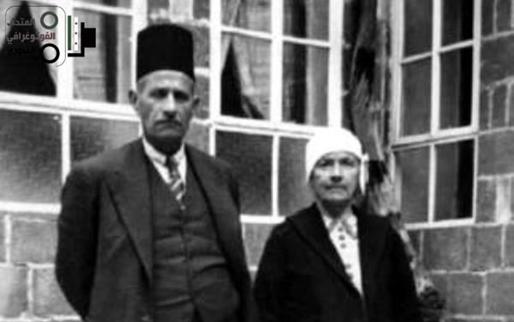 الدكتور عبد الرحمن الشهبندر ووالدته