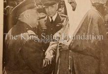 صورة الأمير سعود في سورية مع فوزي سلو وأديب الشيشكلي 1953