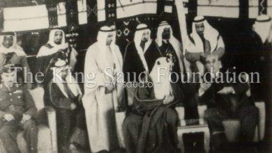 الملك سعود بضيافة فواز الشعلان في عدرا