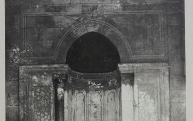 محراب المدرسة الظاهرية البرانية في حلب مطلع القرن العشرين
