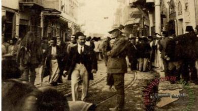 دمشق- جادة السنجقدار منتصف عشرينات القرن العشرين