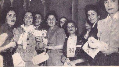 مشاركة سوريات في اﻻنتخابات النيابية في سورية عام 1955..