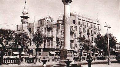 دمشق- مئذنة جامع البصروي وفندق أمية