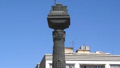 صورة للنصب التذكاري للاتصالات البرقية في ساحة المرجة عام 2010