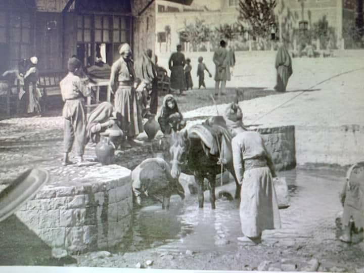 حمص : صورة نادرة قرب السراي القديمة وحديقة القومندان