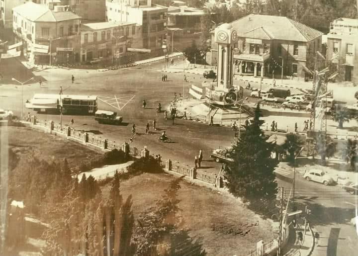 حمص : ساحة الساعة الجديدة في السبعينيات..