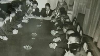 صورة توقيع اتفاقية التعاون الاقتصادي بين سورية وكوريا الديمقراطية شباط 1970