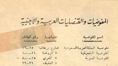 أسماء المفوضيات والقنصليات في سورية حتى نهاية عام 1948