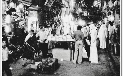 دمشق 1978- سوق الخجا القديم.. قبل إزالته عن جدار القلعة الغربي مدخل سوق الحميدية