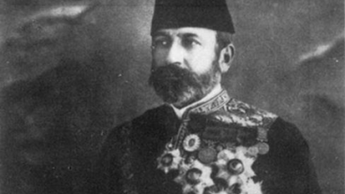 صورة والي الشام العثماني حسين ناظم باشا بلباسه السلطاني الرسمي