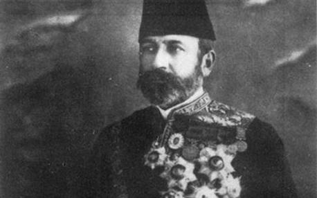 والي الشام العثماني حسين ناظم باشا بلباسه السلطاني الرسمي