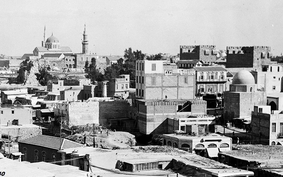 دمشق - أبنية السنجقدار وسوق الهال وسوق علي باشا...1940
