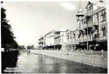 صورة دمشق 1930 – جامع فضل الله البصروي وفندق فكتوريا
