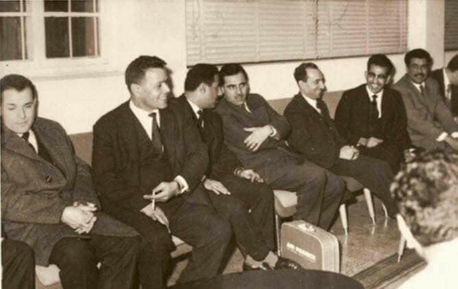 ميشيل عفلق لدى وصوله الى بغداد بعد ثورة 8 شباط 1963