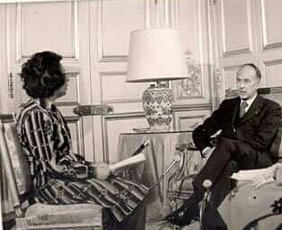 صورة الإعلامية عواطف الحفار اسماعيل في لقاء مع الرئيس الفرنسي جيسكار ديستان