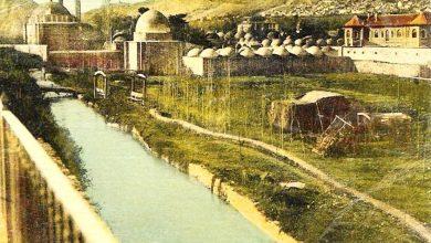 دمشق - نهر بانياس المتاخم لجنينة النعنع و مجمع التكية السليمانية