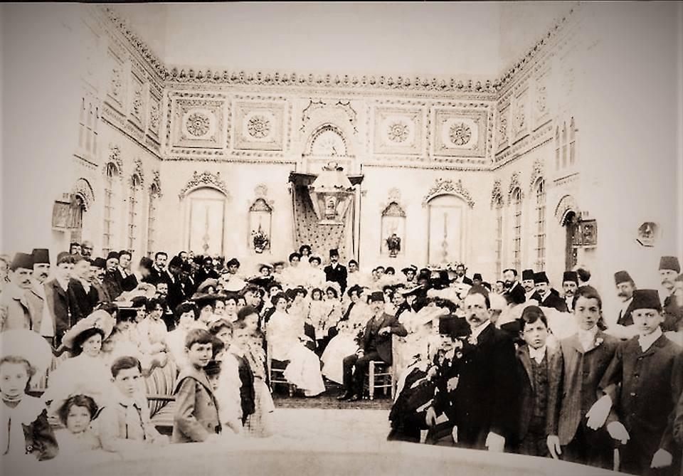 حفل زفاف لعائلة يهودية في دمشق في عشرينيات القرن الماضي