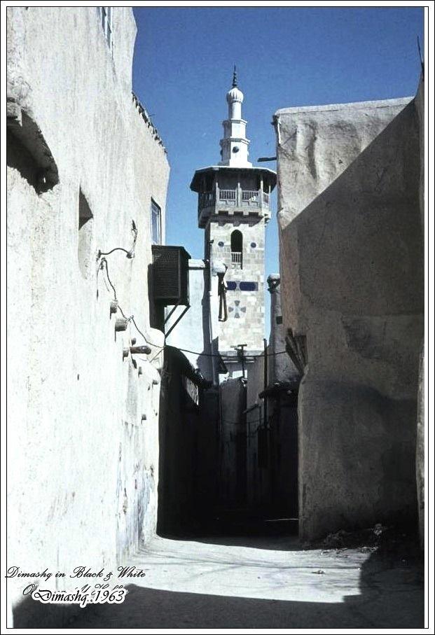 دمشق - مئذنة جامع البزوري ..1963