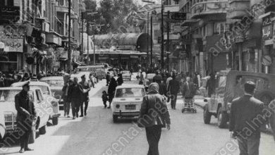 دمشق- جادة السنجقدار في سبعينيات القرن العشرين