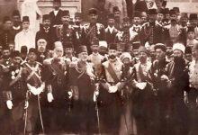 صورة صورة تذكارية للاحتفال الرسمي بإقامة النصب التذكاري للاتصالات البرقية – دمشق 1907