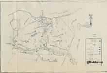 صورة خريطة توضح الرقة ونواحيها وعشائرها في ثلاثينيات القرن العشرين