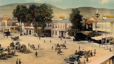 دمشق - سوق علي باشا وسرايا البوسطة والعدلية وتزاحم وسائط النقل منتصف عشرينيات القرن العشرين