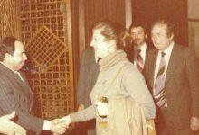 صورة الشاعر نزار قباني مع زوجته بلقيس الراوي عام 1980
