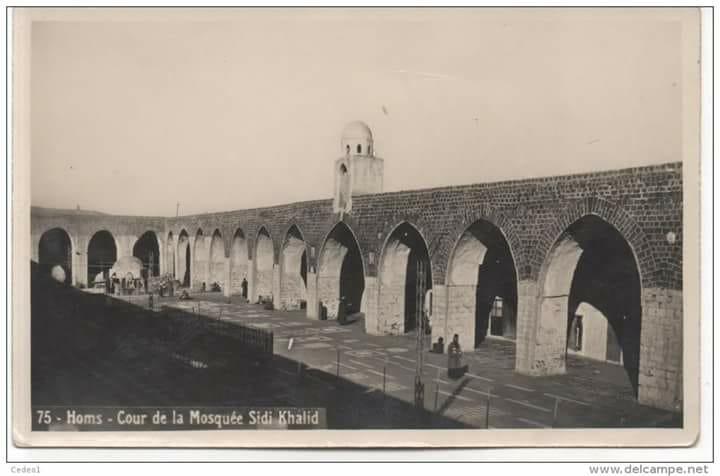 حمص : صحن الجامع الأموي النوري الكبير
