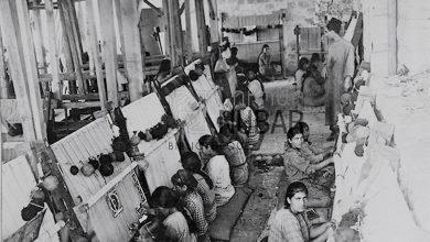 ورشة نسيج للاجئين الأرمن في دمشق  1919