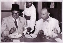 صورة فيضي بك الأتاسي، وزير خارجية سورية في القاهرة 1951م