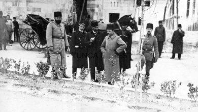 دمشق 1916- جولة تفقدية لـ (إنفر) أنور باشا لمنطقة الجيش الرابع دمشق