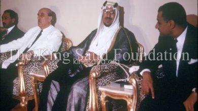 شكري القوتلي والملك سعود بن عبد العزيز 1955