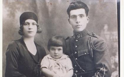 الرئيس اديب الشيشكلي و زوجته السيدة فطينة الفنري