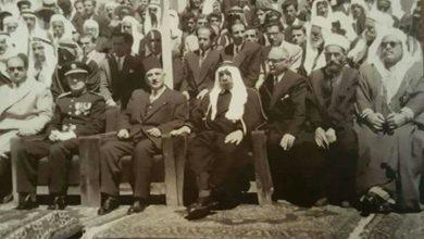 صورة سلطان الاطرش يشارك في احتفالات السويداء في عيد الجلاء 1948