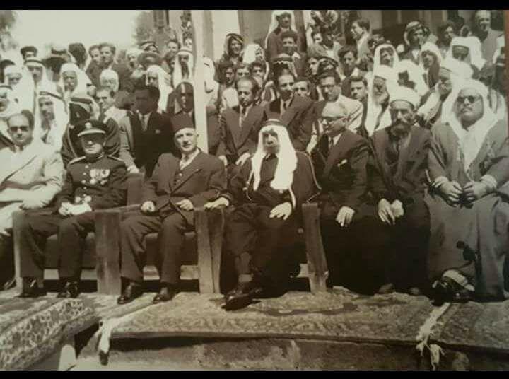 سلطان الاطرش يشارك في احتفالات السويداء في عيد الجلاء 1948