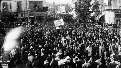 دمشق 1929- جسر فيكتوريا - جنازة فوزي الغزي